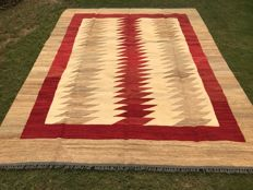 Special High Quality Stripped Hand Made Wool Kilim Rug 266 x 208 CM ( 8.7 x 6.8 Feet)
