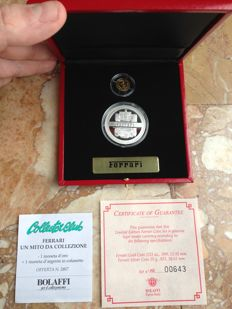 FERRARI 2 coins gold and silver Limited Edition 2004