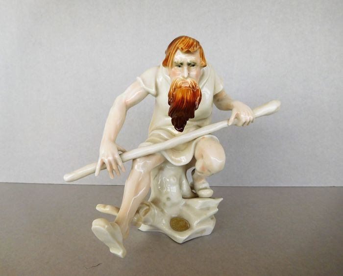 KARL ENS Germany - a rare and collectible porcelain Art Deco male statuette - first half 20th century