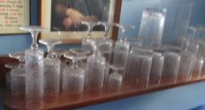 Set of 76 Rosenthal crystal glasses