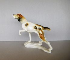 Karl Ens Germany - a large porcelain hunting setter dog figurine