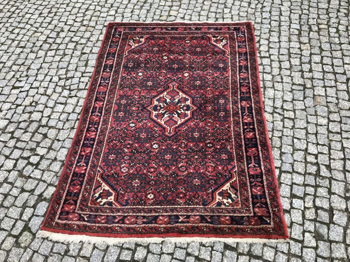 Old and Unique Persian Hamadan Rug 172x116cm - Hand Knotted
