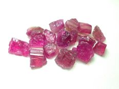Tourmaline var Rubellite lot  - 80ct