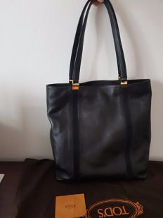 Tod's - Leather shopping bag with handles