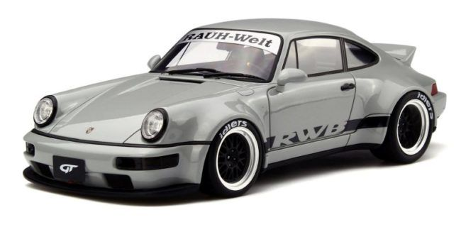"GT-Spirit - Scale 1/18 - Porsche 911 (964) RWB  ""Duck Tail"" - Grey"