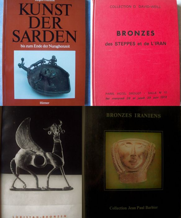 Lot with 4 books on bronze artefacts (Persia, Luristan) - 1955/1983