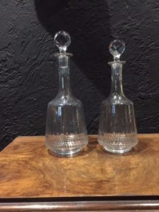 Pair of decanters Baccarat - Champigny Richelieu