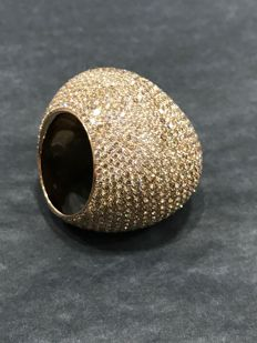 GLENN SPIRO - 18ct Rose Gold Diamond Bombé Ring