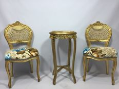 2 French baroque Chairs