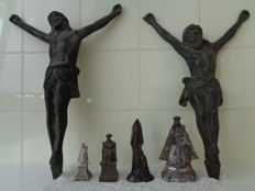6 metal religious objects - Provenance unknown - 19th century / 20th century