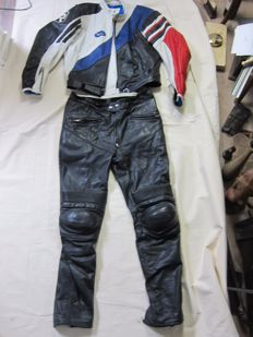 Richa leather motorcycle suit - ca. 1990