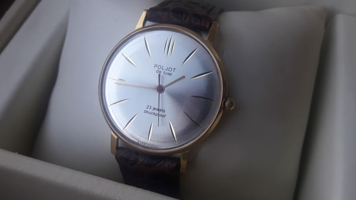 "Poljot De Luxe ""ultra-slim"",Great condition Men's watch. Export series. Vintage Watch Soviet USSR 19670-79's . AU 10."