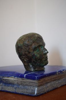 A Grand Tour period bronze head of a Greek/Roman 'Ephebe' - Italy - 19th century
