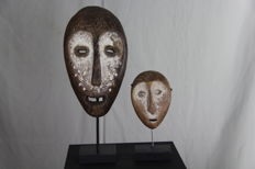 Lot with old Bwani mask and passport mask – LEGA – D.R. Congo.