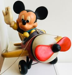 Disney - Figure - Mickey Mouse in Plane (1980s)