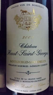 2005 Chateau Haut Saint-Georges x 6 bottles