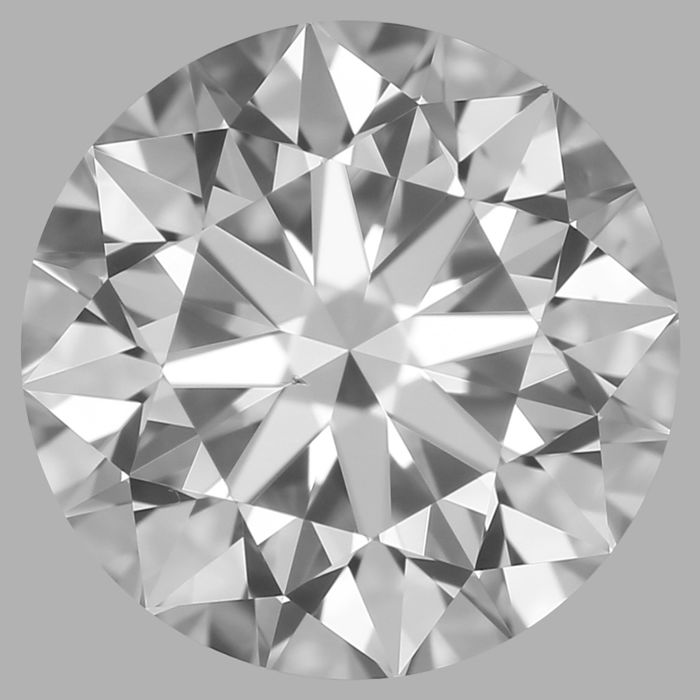 Round Brilliant Diamond 0.70 Carat , F VS2 ,  Cert: GIA  #3110C -original image 10X