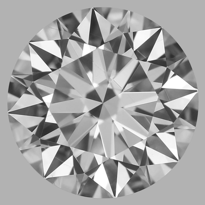 Round Brilliant Diamond 0.71 Carat , D VS2 ,  Cert: GIA  #3110B -original image 10X
