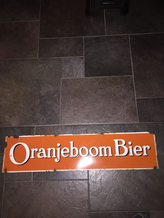 Enamel advertising sign Oranjeboom beer