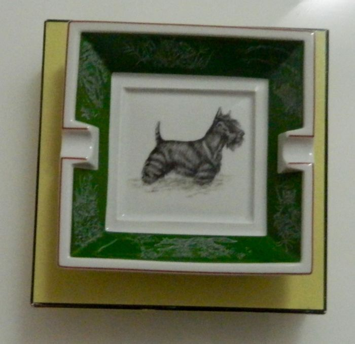 "Hermes Ashtray - ""Scottish Terrier"""