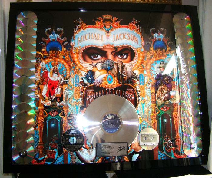 "Presented to Michael Jackson 32 Million sales ""Dangerous"" rare"