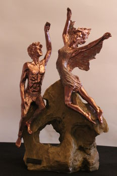 Sculpture in bronze - signed - second half of the 20th century