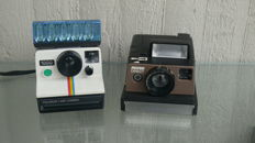 Two instant cameras - Polaroid Land camera 1000, Revue Direct 700 F