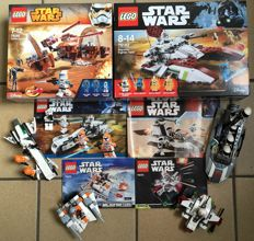 Star wars - 75085 + 7668 + 7913 + 75072 + 75074 + 75182 - Hailfire Droid and more