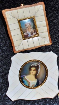 Two miniature portraits, first half of 20th century