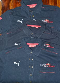 Set of 3 Orig. Toro Rosso F1 Team & Driver Polo Shirt > Team Only !! ( Buemi/Algesuari )