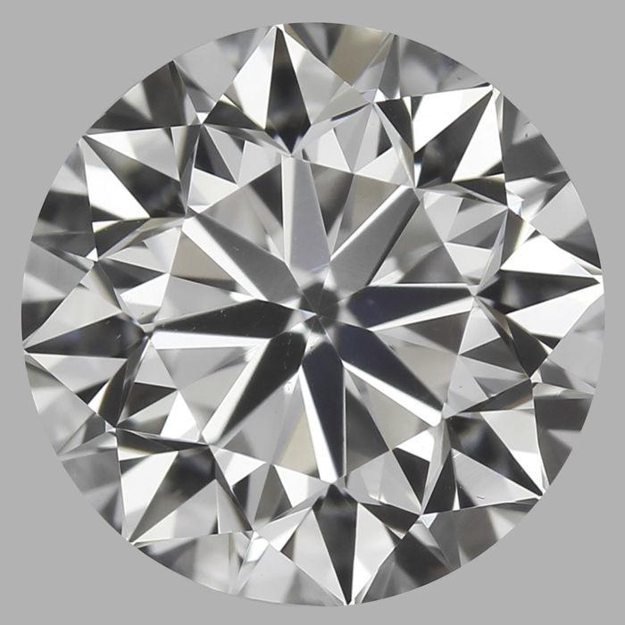 Round Brilliant Diamond 0.90 Carat , G VS2 ,  Cert: GIA  #3110H -original image 10X
