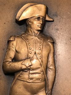 Maurice Delannoy (1885-1972) - Lord Horatio Nelson - bronze relief