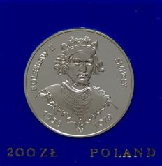 Poland - 200 Zloty 1981 'King Bolaslaw II Smialy' - silver