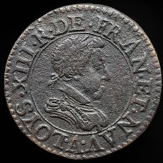 France - Double tournois hybride 1620/1617 Paris - Louis XIII
