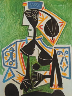 Pablo Picasso (after) - Woman in green