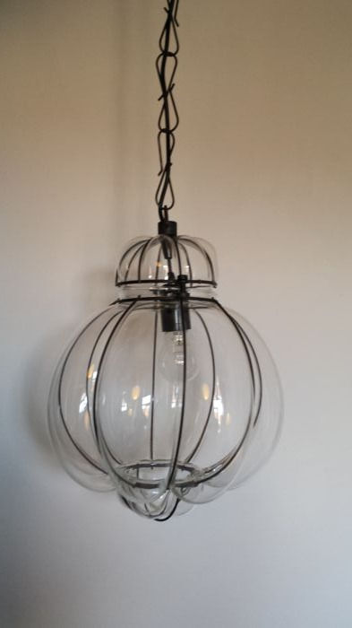 "Brocante glass ceiling-lamp ""Venetian style"""