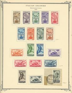 Italian Colonies - 1931 - 1940 - collection with Libya on album sheets with Sassone no. 41 on pieces of letters