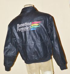 Orig. Benetton F1 Heavy Leather Jacket > Team Only !!