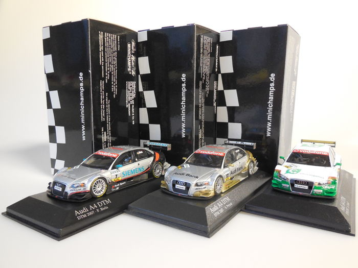 Minichamps - Scale 1/43 - Lot with 3 x Audi A4 DTM 2007