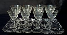 Engraved crystal set, United Kingdom
