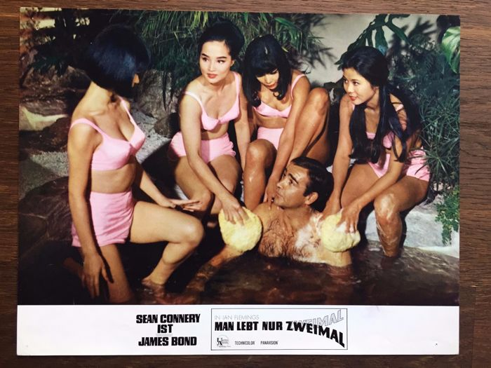You only live twice James Bond - 24 vintage Lobby Cards 1967 Sean Connery