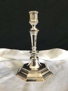 Louis XV style candlestick, from Christofle brand, circa 1960