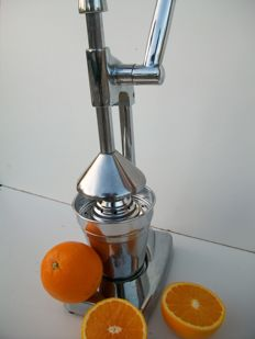 Design citrus press - metal/chrome finish.