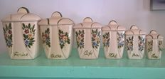 6 spice pots earthenware