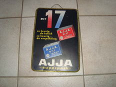 Old metal sign AJJA Superpack 1958