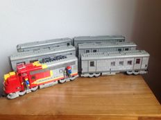 Train 9v - 10020 + 3x 10022 + 2 x 10025 - Sleeping car + Dining car + Obsarvation car + Mail car + Baggage car