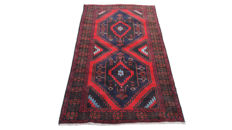 Beautiful Afghan Hand Knotted Balouch Herati Carpet Area Rug 220 cm x 121 cm