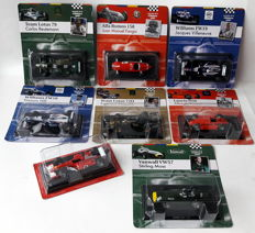 Altaya - Scale 1/43 - Lot with 8 x Formula I race cars
