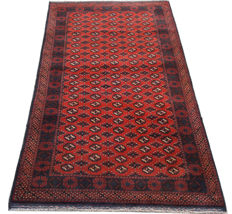 Amazing Afghan Hand Knotted Balouch Herati Carpet Area Rug 220 cm x 120 cm