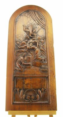 Wooden bas-relief depicting the deposition of Christ - 18th century